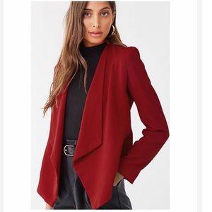 Draped front blazer